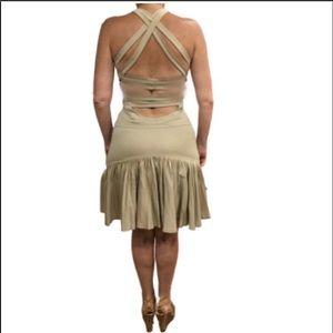 Helmut Lang dress Open Back Designer Italy pleated